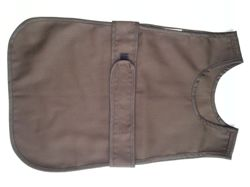 Apron fastened at the front (small 2-3 years old) in a set with 12 gloves - brown