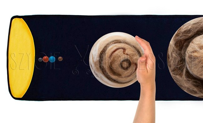 Planets of the solar system - felted