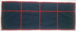 4-field mat - navy blue - SALE