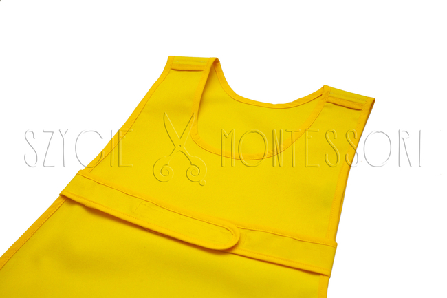 Apron fastened at the front - different colors - yellow