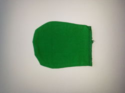 Set of 12 polishing gloves - different colors - green