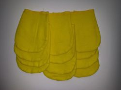 Set of 12 polishing gloves - yellow