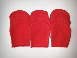 Set of 12 polishing gloves - red
